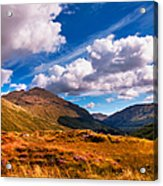 Sunny Day At Rest And Be Thankful. Scotland Acrylic Print