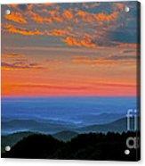 Sunrise Blue Ridge Parkway Acrylic Print