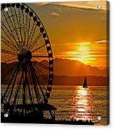 Sunset Ferris Wheel Acrylic Print