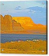 Sunset Glow Over Wahweap Bay In Lake Powell In Glen Canyon National Recreation Area-arizona Acrylic Print