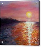 Sunset In Ixtapa Acrylic Print