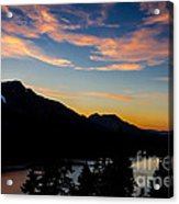 Sunset On Angora Ridge Acrylic Print by Mitch Shindelbower