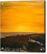 sunset over Jerusalem Acrylic Print