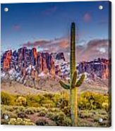 Superstition Mountains Acrylic Print