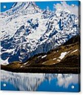 Swiss Alps - Schreckhorn Reflection Acrylic Print