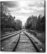 Switching Tracks Leaving Leafing Acrylic Print