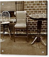 Table And Chairs Acrylic Print