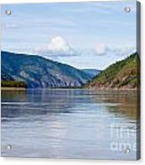 Taiga Hills At Yukon River Near Dawson City Acrylic Print