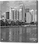 Tampa Skyline From Davis Islands Acrylic Print