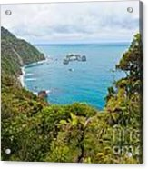 Tasman Sea At West Coast Of South Island Of New Zealand Acrylic Print