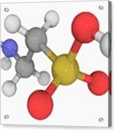 Taurine Molecule Acrylic Print