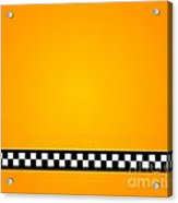 Taxi Background Acrylic Print