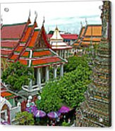 Temple Of The Dawn-wat Arun In Bangkok-thailand Acrylic Print