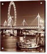Thames River Night View Acrylic Print