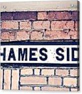 Thames Side Acrylic Print