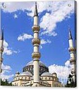The Azadi Mosque At Ashgabat In Turkmenistan Acrylic Print