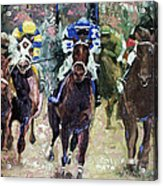 The Bets Are On Acrylic Print