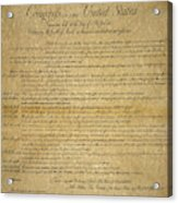 The Bill Of Rights, 1789 Acrylic Print