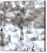The Candle In The Snow Acrylic Print