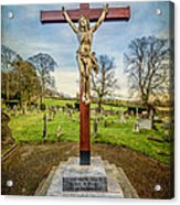 The Cross Acrylic Print by Adrian Evans