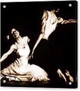 The Dancers-sepia Acrylic Print