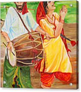 The Dhol Player Acrylic Print