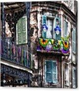 The French Quarter During Mardi Gras Acrylic Print