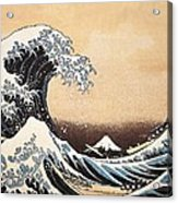 The Great Wave Of Kanagawa Acrylic Print