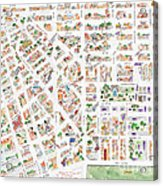 The Greenwich Village Map Acrylic Print