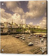 The Harbour At Tenby  Acrylic Print