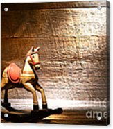 The Old Rocking Horse In The Attic Acrylic Print