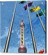 The Oriental Pearl Tower Acrylic Print