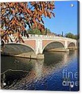 The River Thames At Hampton Court London Acrylic Print