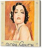 The Trespasser, Gloria Swanson, 1929 Acrylic Print