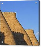 The Walls Of The Ark At Bukhara In Uzbekistan Acrylic Print