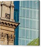 Three Styles Of Architecture Acrylic Print