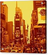 42nd Street And Times Square Manhattan Acrylic Print