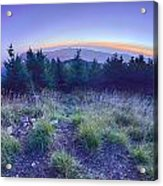 Top Of Mount Mitchell After Sunset Acrylic Print