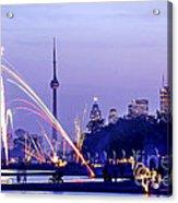 Toronto Fireworks Acrylic Print