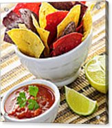 Tortilla Chips And Salsa Acrylic Print