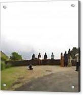 Tourists Posing For Photos Acrylic Print
