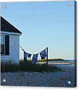Towels On The Line Acrylic Print