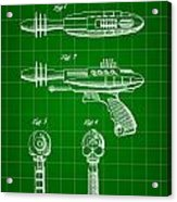 Toy Ray Gun Patent 1952 - Green Acrylic Print