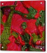 Toy Soldiers In A Pool Of Blood Acrylic Print