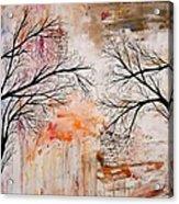 Tree Silhouette Painting Acrylic Print