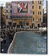 Trevi Fountain Rome Acrylic Print