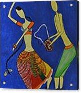Tribal Dance From India Acrylic Print