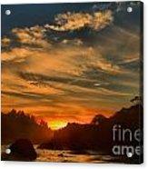 Trinidad Beach Sunset Acrylic Print by Adam Jewell