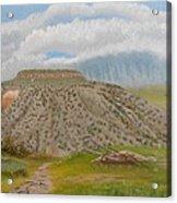 Tucumcari Mountain Reflections On Route 66 Acrylic Print
