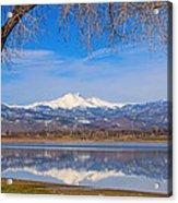 Twin Peaks Longs And Meeker Lake Reflection Acrylic Print